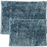 Sweet Home 系列 Chenille Noodle 浴室地毯 2 件套 蓝绿色 CHEN-2PCRUG-TEAL