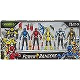 Power Rangers Beast Morphers 可动人偶多件装,含6个玩偶和恶棍玩具,带配饰,灵感来自电视剧