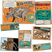 Eureka Smithsonian 三角龙恐龙事实公告板教室装饰,6 件