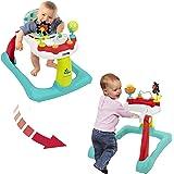 Kolcraft Tiny Steps 2 合 1 活动学步器 – 座椅或行走位置,易折叠,可调节座椅高度,宝宝玩耍玩具…