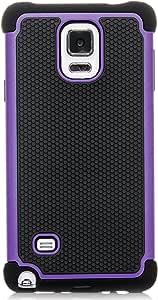 Galaxy Note 4 手机壳,iSee 手机壳(TM)重型双层混合保护手机壳适用于三星 Galaxy Note 4(Note4-3 合 1)4326511108 紫色