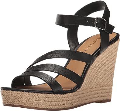 Lucky Brand 女士 Latif 高跟凉鞋 黑色 7.5 M US
