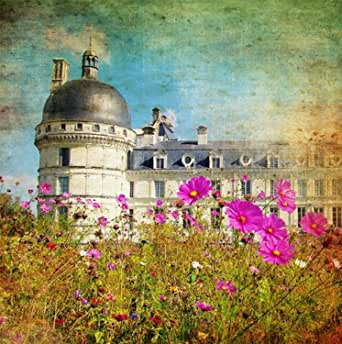 West of the Wind All-Weather Print, Chateau and Cosmos, 24-Inch