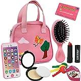 Click n' Play CNP0053 8 件女孩假扮钱包,包括智能手机、汽车钥匙、信用卡、口红、发光和发出真实生活…