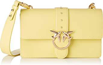 PINKO 女士 Love Classic Simply Fl Vitello 单肩包,7.5x16.5x27厘米