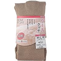 ATSUGI 厚木 COMFORT系列(舒适款)羊毛纹 发热罗纹连裤袜 BL1634 女士