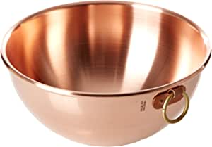 Mauviel M'Passion Copper Egg White Bowl with Ring Mauviel M'Passion Copper Egg White Bowl with Ring 同色 12英寸
