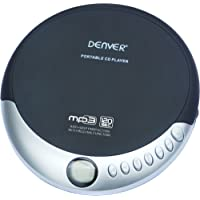 Denver 丹佛 Discman(CD-R/RW,液晶显示器) Dunkelgrau/Silber