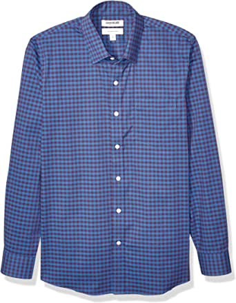 Amazon 品牌 - Goodthreads 男式修身长袖抗皱舒适弹力府绸易于打理
