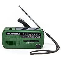 Kaito Voyager V2 便携式太阳能/手曲轴 AM/FM、短波和 NOAA 天气应急收音机带 USB 手机充电…