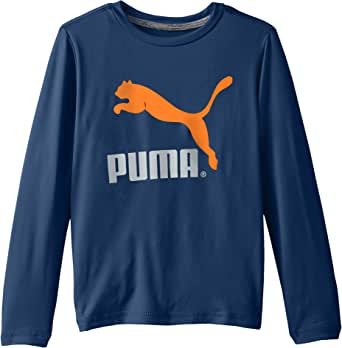 PUMA Little Boys' Good Long Sleeve Logo Tee Poseidon 7