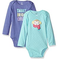 Carter's 女童长袖连体衣 2 件套