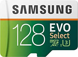 三星 EVO Select UHD 内存卡带适配器 128 GB