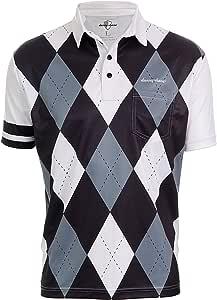 DannyShane 男式菱形活跃 Polo 衫