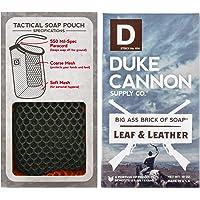 Duke Cannon 男士绳子肥皂套装:战术磨砂 + 美国前沿大块肥皂,283.5 克 Leaf + Leather
