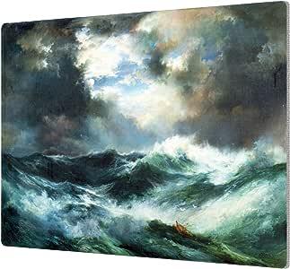 """ArtWall 1tmo001a1418a Thomas tMoran's """"Moonlit Shipwreck At Sea 1901"""" Aluminum Print, 14"""" x 18"""""""