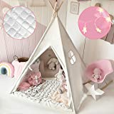 Tiny Land Kids Teepee Tent Children Play Tent with Mat & Car…