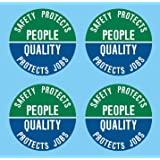 I Make Decals Safety Protects People,质量保护作业,5.08 cm,圆形,硬帽,硬帽…