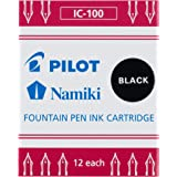 Pilot Namiki IC50 钢笔墨盒 精细书写 12片装 黑色