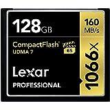 Lexar 雷克沙 专业1066x 128GB VPG-65 紧凑型闪存卡(读取速度高达160MB / s)LCF128CRBNA1066