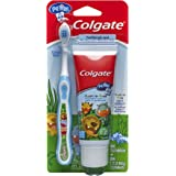 Colgate 高露洁 My First Baby and Toddler 婴幼儿牙膏牙刷,1包-牙膏和牙刷套装,1.7…