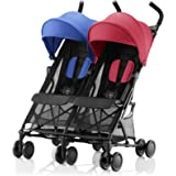 Britax Römer HOLIDAY DOUBLE Pushchair (6 months - 15 kg|3 years) - Red/Blue