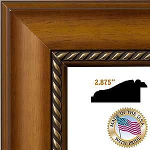 ArtToFrames 12x30 / 12 x 30 相框浅胡桃色/金色绳索 II .2.875 英寸宽 (2WOMM319826)