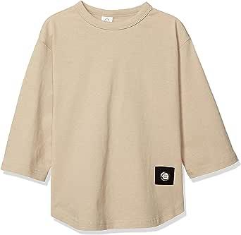 [零标准] T恤 7分袖 宽松T恤 儿童 100107 米色 日本 160 (日本サイズ160 相当)