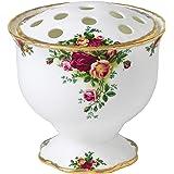 Royal Albert 玫瑰碗,细骨瓷白色,14 厘米