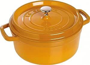 Staub 珐宝 珐琅铸铁锅 圆形炖锅 20cm 芥末黄