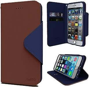 cellto Apple iphone 6高级钱包手机壳 [ 双磁性翻盖 ] 日记 COVER / 高品质 PU 皮革 + 生命 TIME 保修