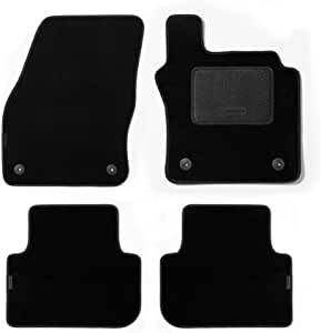 MICHELIN 701-3505 脚垫 带小脚跟垫和白色边缘镶边 Indy Daytona 黑色 定制