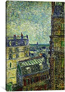 iCanvasART 14263-1PC3-40x26 View from Theo's Apartment Canvas Print by Vincent van Gogh, 0.75 by 26 by 40-Inch