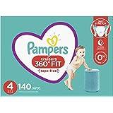 Pampers 尿布 – Cruisers 360 度度一次性婴儿尿布,带弹性腰带,一个月供应量 Cruisers 4 140