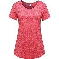OThread & Co. 女式短袖瑜伽上衣高性能运动服跑步锻炼吸湿排汗基本款 T 恤