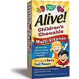 Nature's Way 澳萃维儿童优质咀嚼型复合维生素,水果和蔬菜混合物(每份150毫克),无麸质,120粒咀嚼片