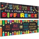 Sproutbrite 教室横幅/海报装饰品 - 教育、激励和激励生长心的教室大厦 - 2 个海报包 - 33 x 99…