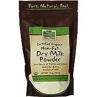 NOW Foods - 现在真正的食物脱脂牛奶粉末 - 12盎司