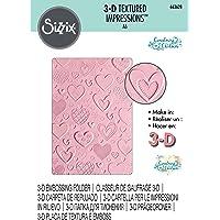 Sizzix 3-D 纹理压花模板 663628 Courtney Chilson 心形,多色,均码