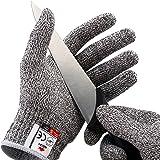 NoCry 抗切割手套 – 双手,食品级,高性能级5级保护 灰色 大 nocry1xl