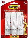 Command Medium Hooks, White, 6-Hook