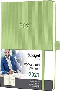 Sigel C2168 周历 2081 约 A5,精装,浅*,概念 - 其他型号