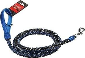 petlou 长反光和 luminous 尼龙 & 橡胶编织绳绳带软气垫手柄 蓝色 5'