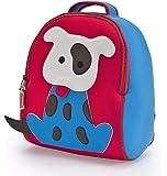 Dabbawalla Go Fetch Dog 儿童学龄前背包,红/蓝