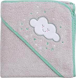 Clevamama 围裙婴儿浴巾,带兜帽 灰色