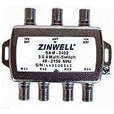 Zinwell 3 x 4 多开关