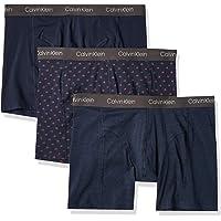 Calvin Klein 男式 弹力棉平角内裤 多条装