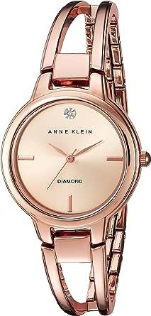 ANNE KLEIN 女士 AK/2626RGRG 钻石点缀表盘 手镯表,Rose Gold,均码