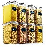 谷物和干食品保鲜盒 - Wildone Airtight 谷物保鲜盒 8 件套 [2.5L / 85.4oz] 适用于糖…