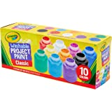 "Crayola 可洗儿童颜料套装 10 瓶 (2 液体盎司/59mL) 可洗儿童漆 10 色瓶套装 2 盎司 ""Multi"""